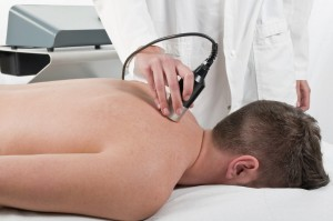 Laser treatment at Torbay Chiropractic Clinic
