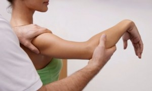 Arm physiotherapy at Torbay Chiropractic Clinic