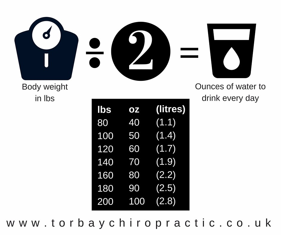 How much water should I drink? Torbay Chiropractic